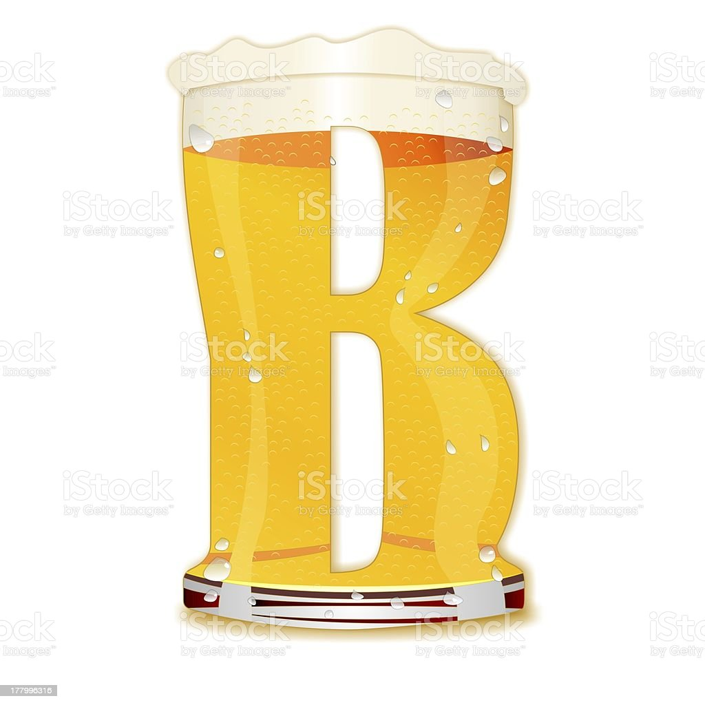 BEER ALPHABET letter B stock photo