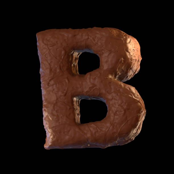 letter b - schokolade typografie stock-fotos und bilder