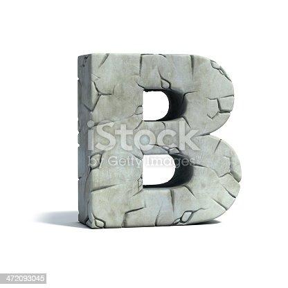 istock letter B stone 3d font 472093045