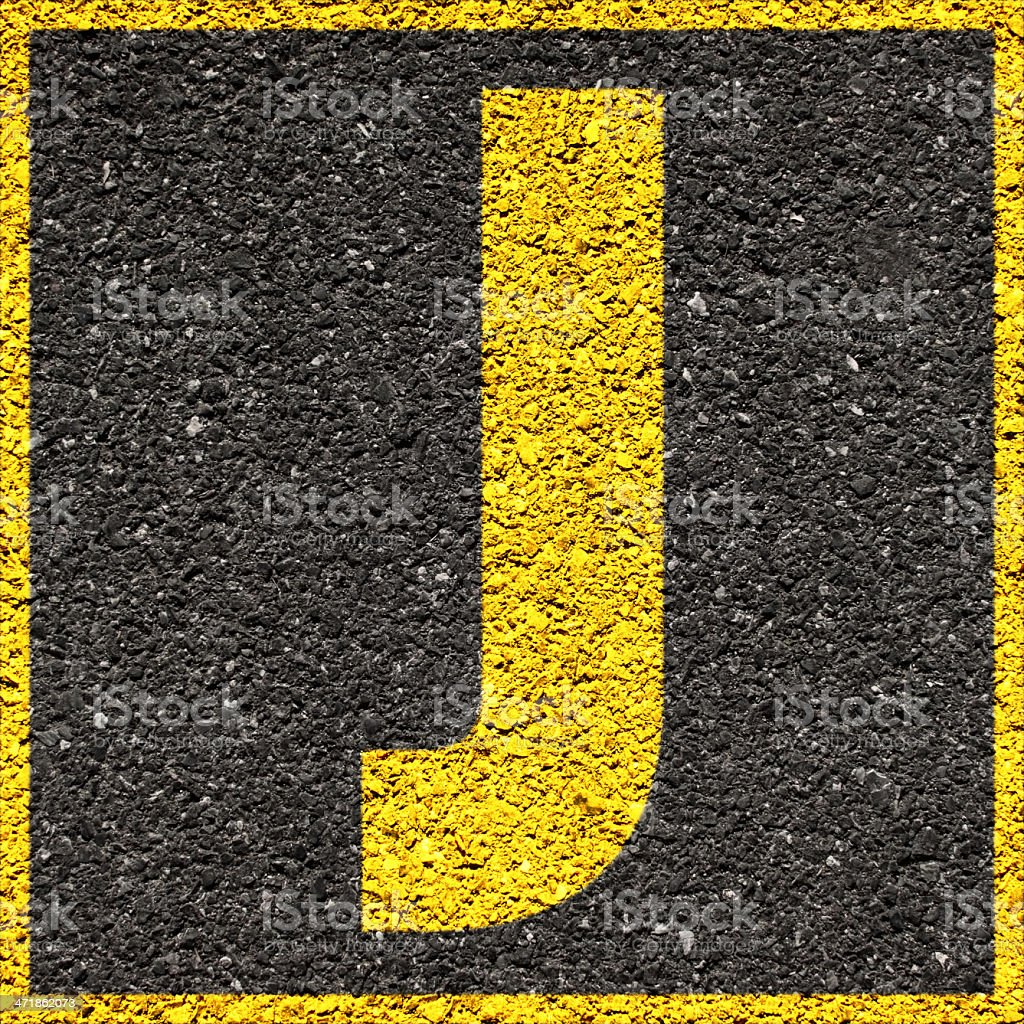 Letter B yellow square royalty-free stock photo