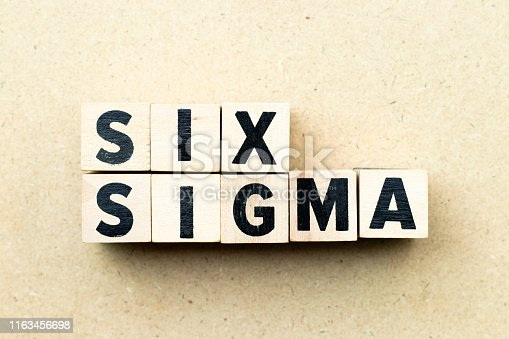 1180722244 istock photo Letter block in word six sigma on wood background 1163456698