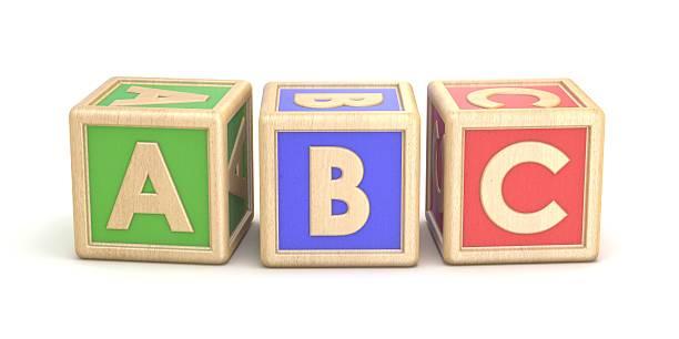Letter blocks ABC. 3D ストックフォト