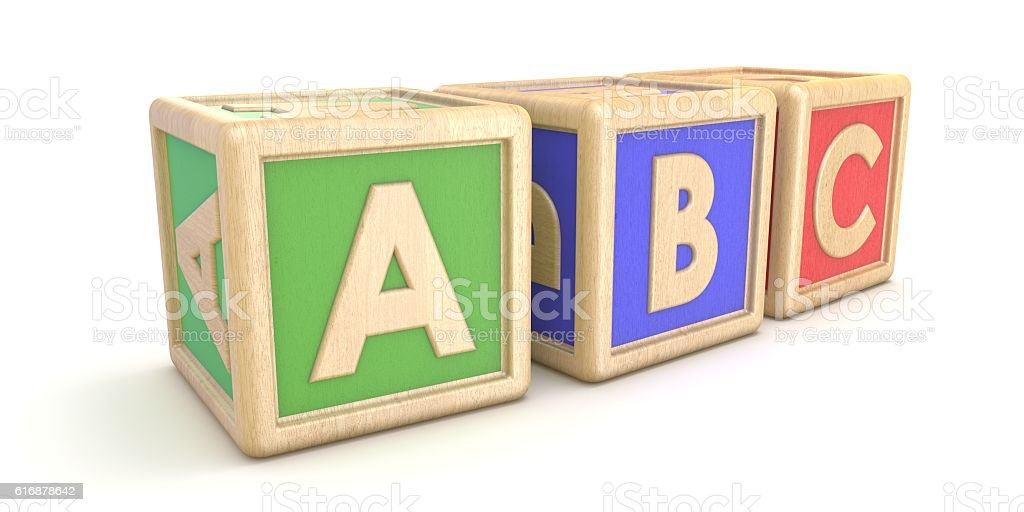 letter blocks abc 3d stock photo more pictures of alphabet istock