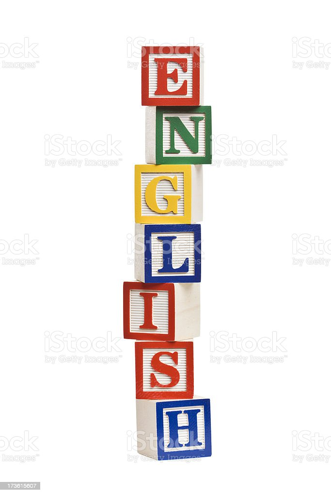 ENGLISH Letter Blocks royalty-free stock photo