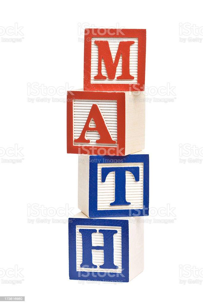 MATH Letter Blocks stock photo