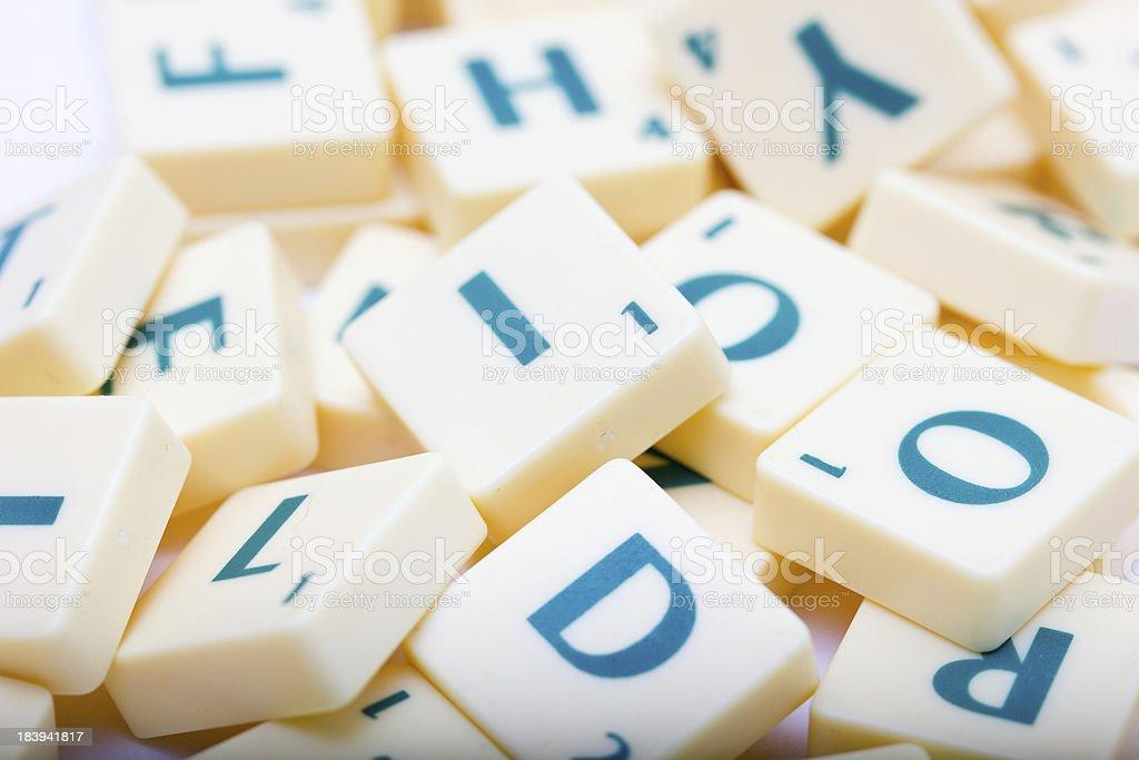 Letter Blocks stock photo
