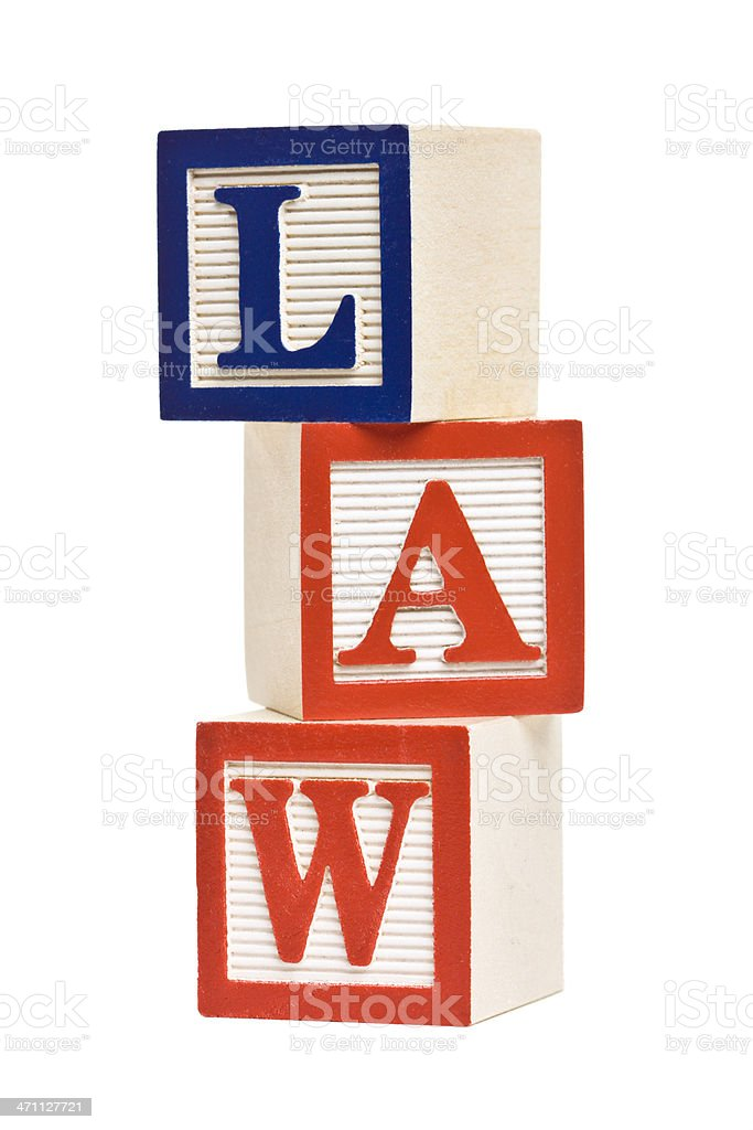 LAW Letter Blocks royalty-free stock photo