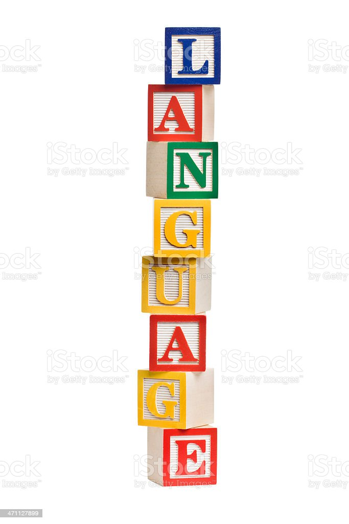 LANGUAGE Letter Blocks royalty-free stock photo