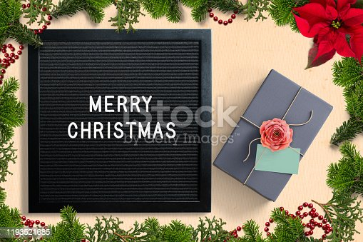 istock Letter board with merry christmas message 1193521685