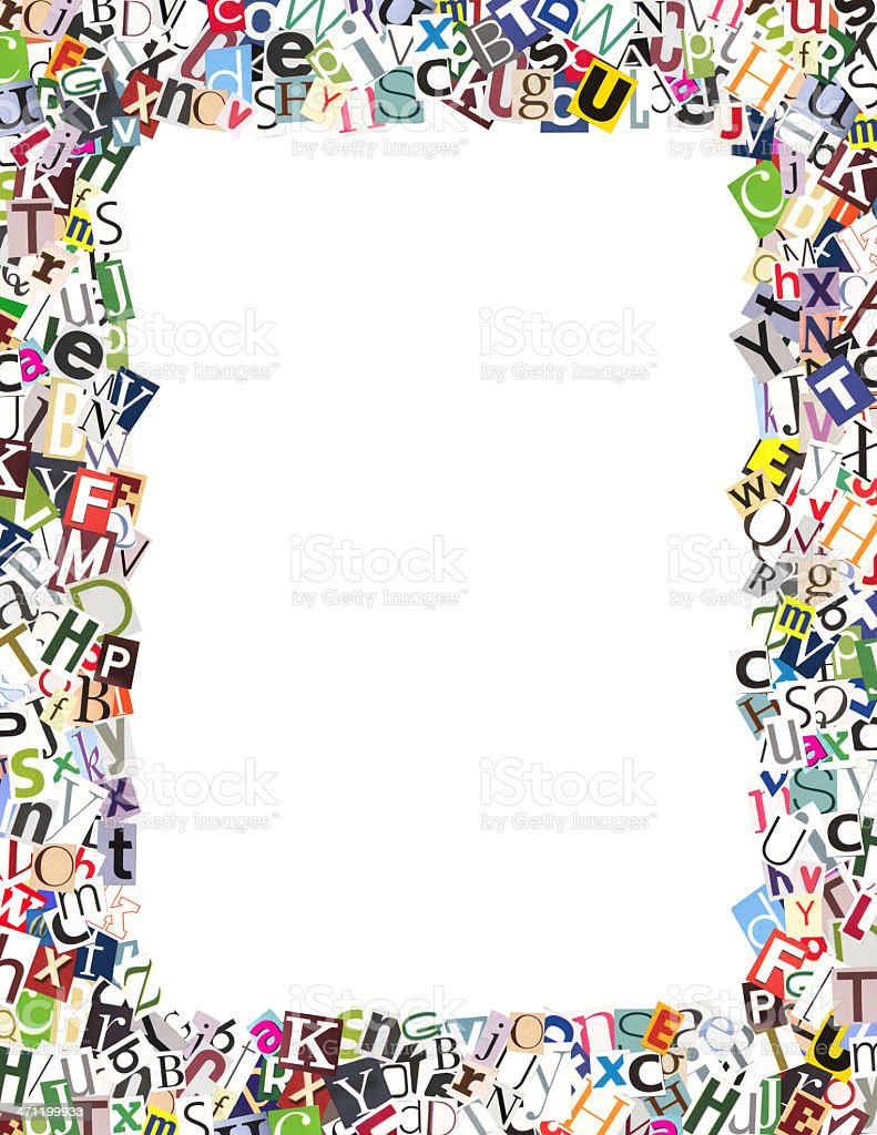 Letter Border Stock Photo - Download Image Now - iStock