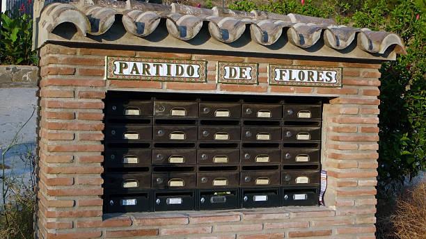 letter box collection - briefhalter stock-fotos und bilder