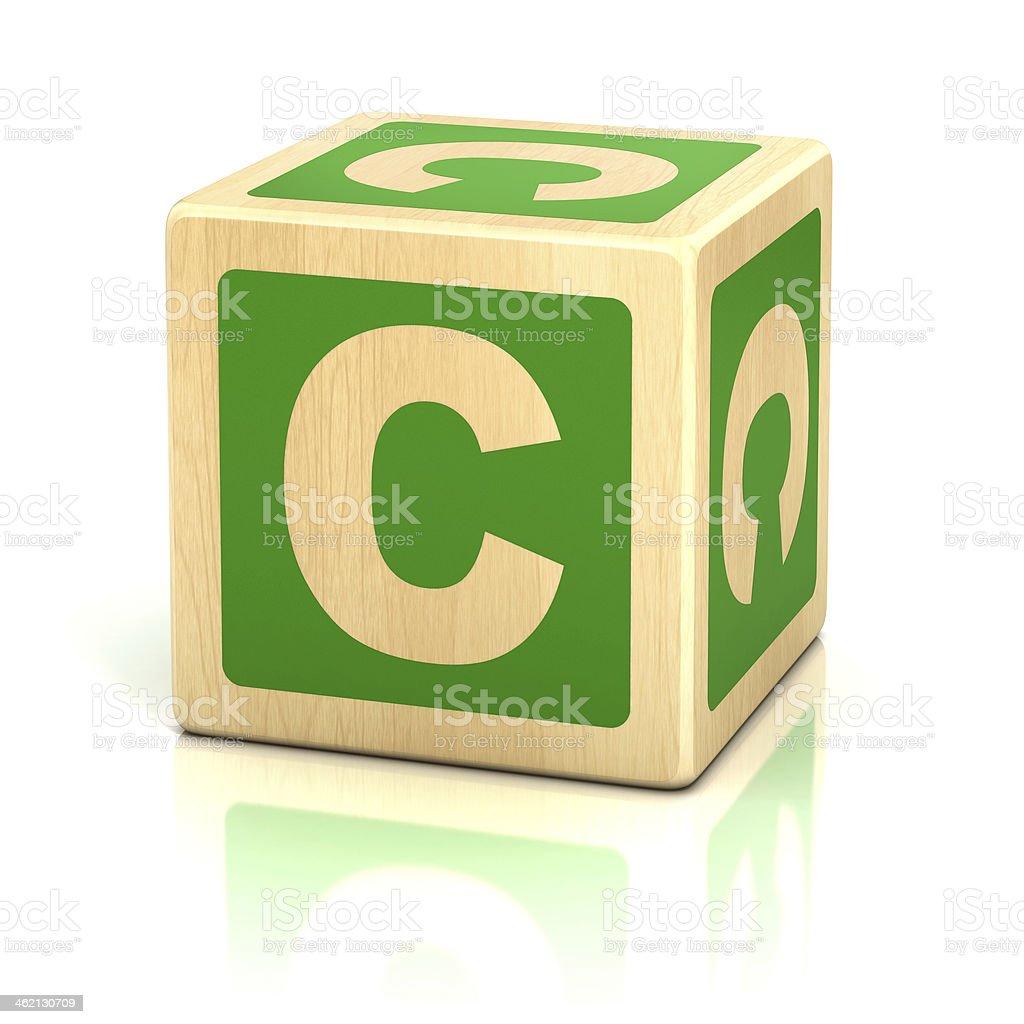 Letra C alfabeto cubos fuente - foto de stock