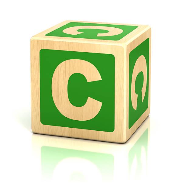 letra c cubos alfabeto fonte - c - fotografias e filmes do acervo