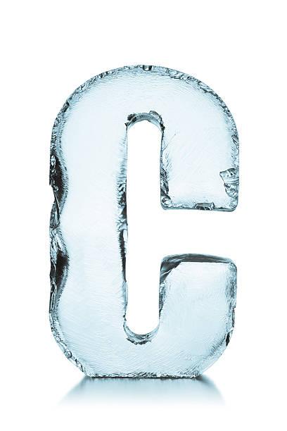 Gefrorenes Eis alphabet Buchstabe C – Foto