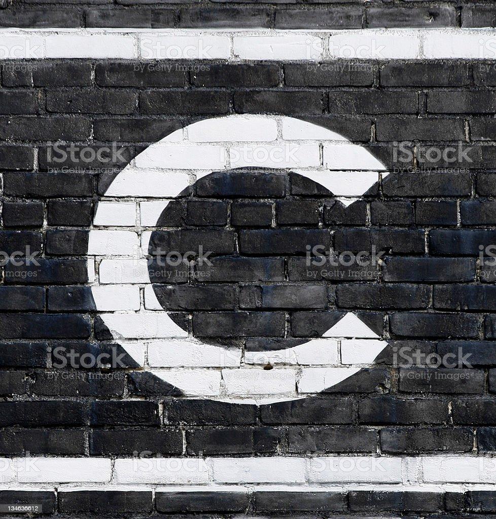Letter 'C' stock photo