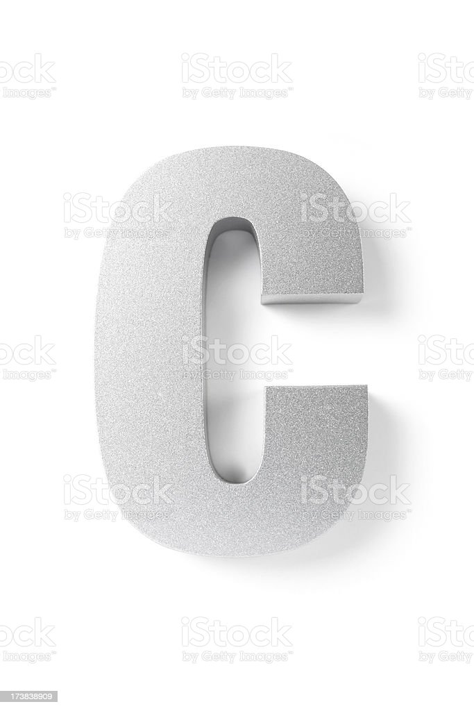 Letter C royalty-free stock photo