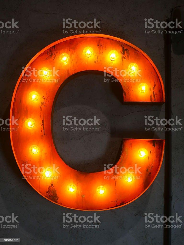 Letter 'C' - foto de stock