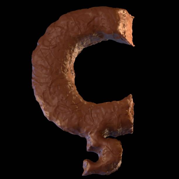 letter c - schokolade typografie stock-fotos und bilder