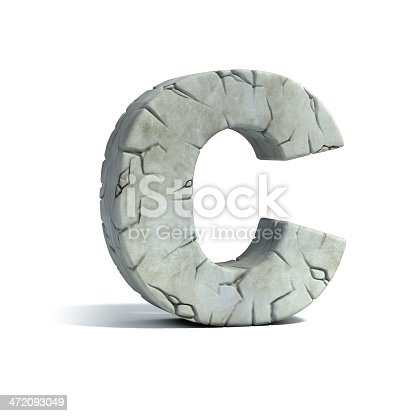 istock letter C stone 3d font 472093049