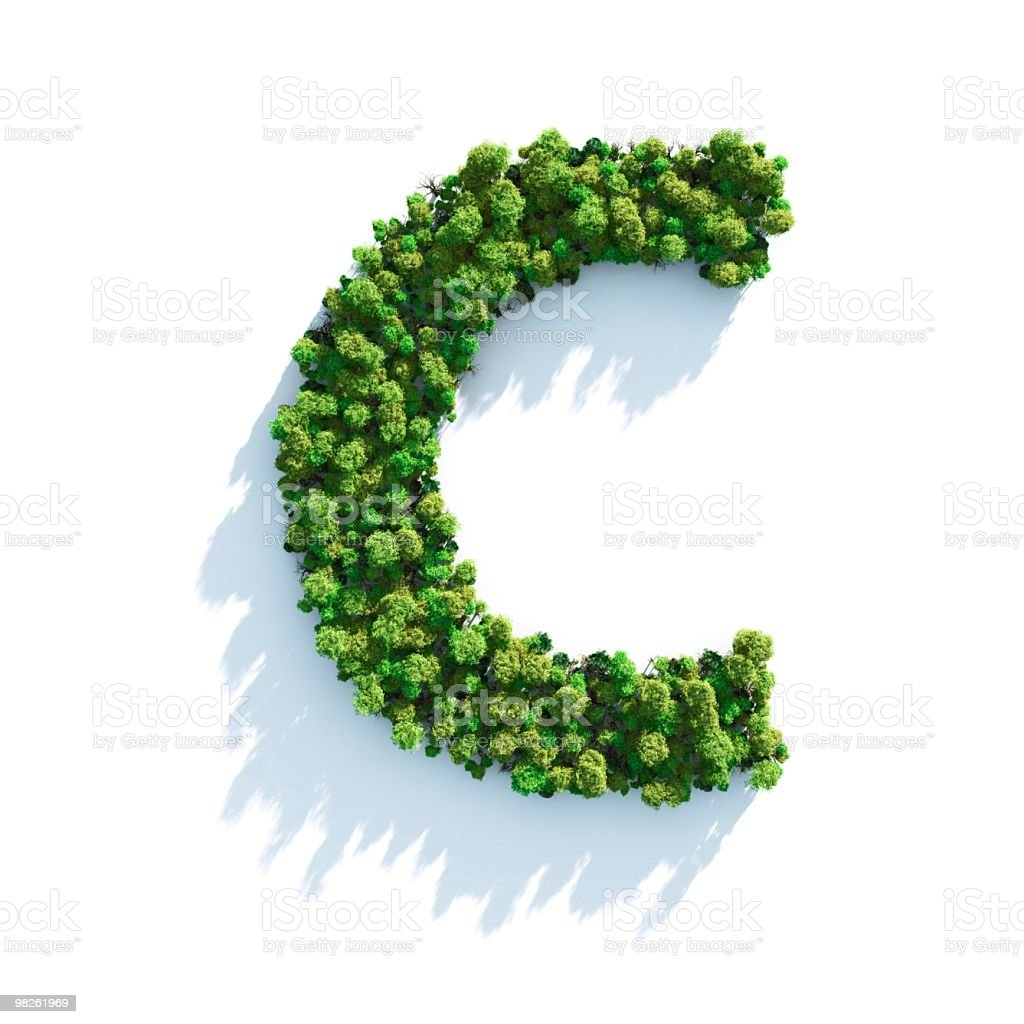 Letter C: Top View royalty-free stock photo
