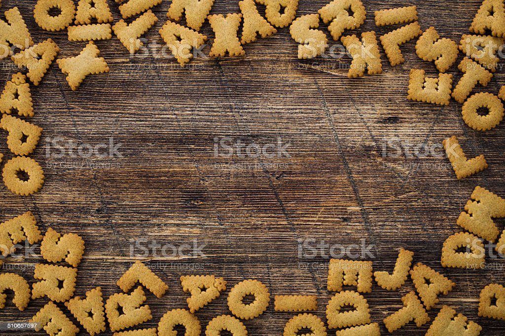 Letter Cookie Background stock photo