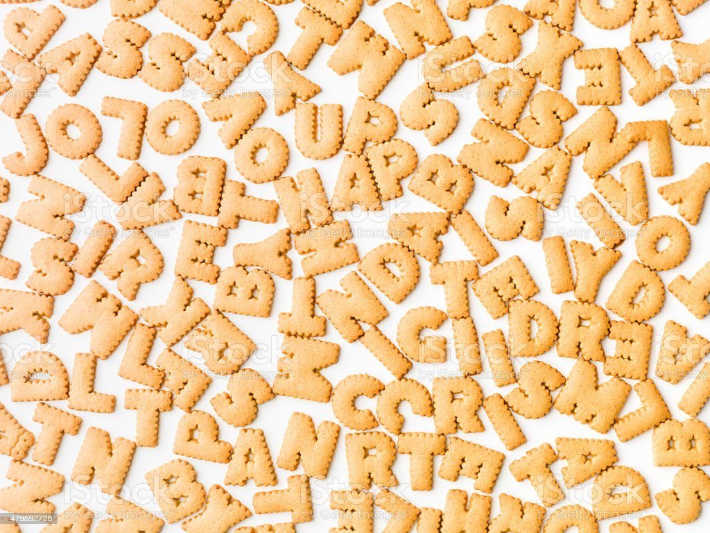 letter cookies pattern stock photo