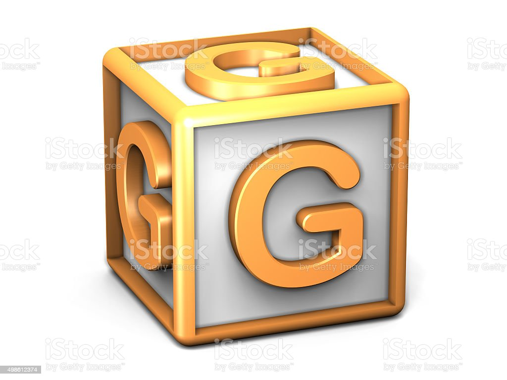G Letter Cube stock photo