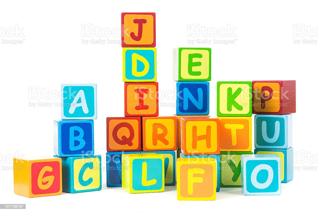letter cubes - Buchstaben Bauklötze royalty-free stock photo