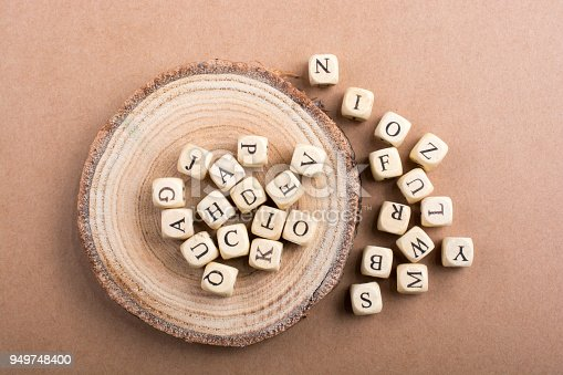 istock Letter cubes of made of wood 949748400
