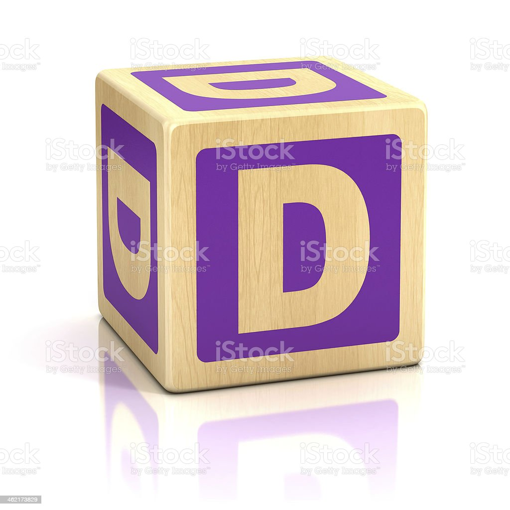 letter D alphabet cubes font stock photo