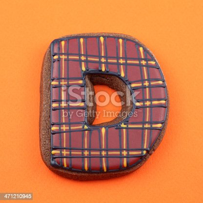 istock Letter D Cookie 471210945