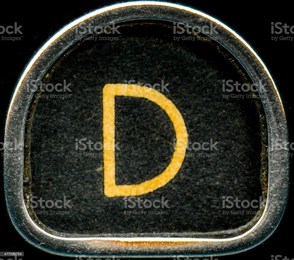 Letter D stock photo