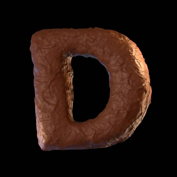 buchstabe d - schokolade typografie stock-fotos und bilder