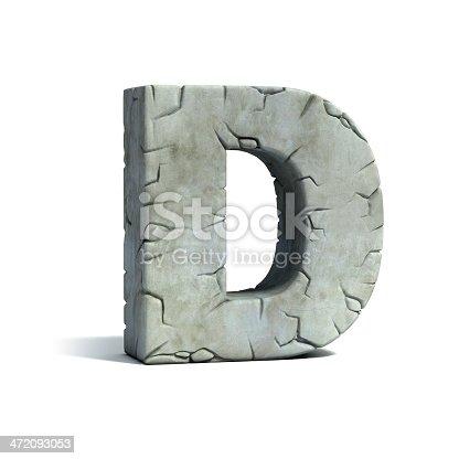 istock letter D stone 3d font 472093053