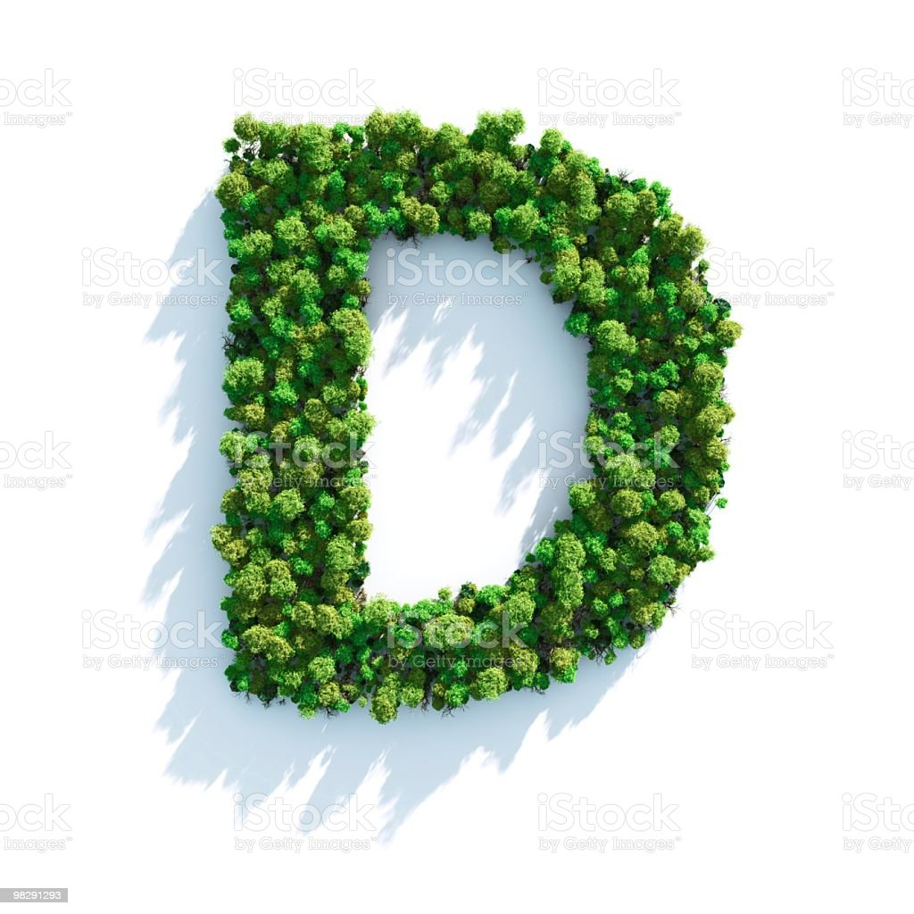 Letter D: Top View royalty-free stock photo