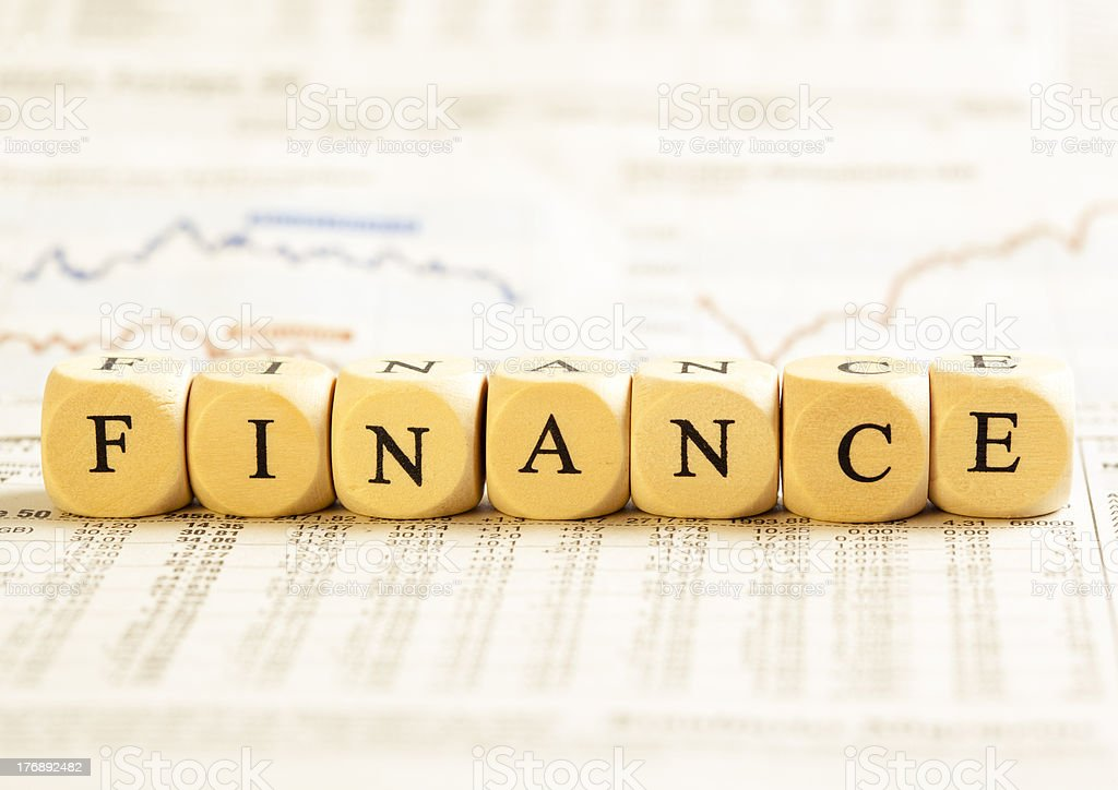 Letter Dices Concept: Finance royalty-free stock photo