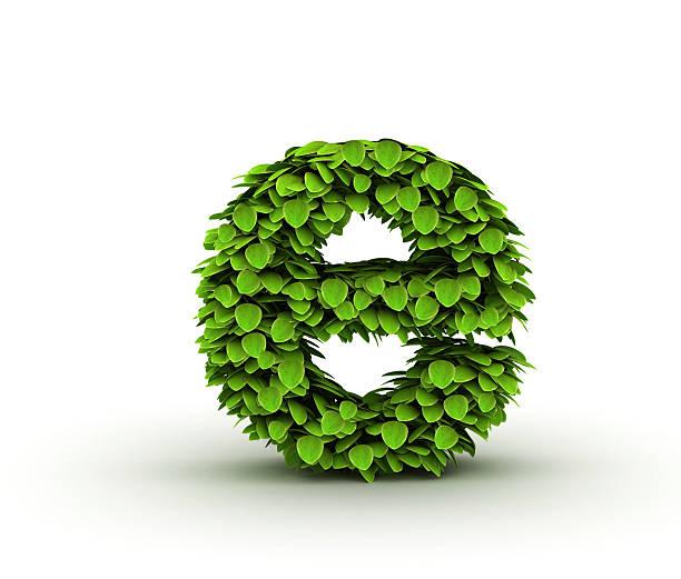 buchstabe e, alphabet mit grünem salat - garden types stock-fotos und bilder