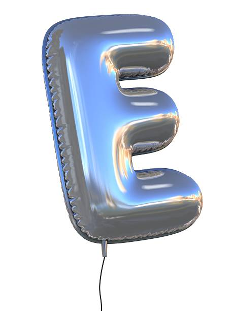 letter E balloon font stock photo