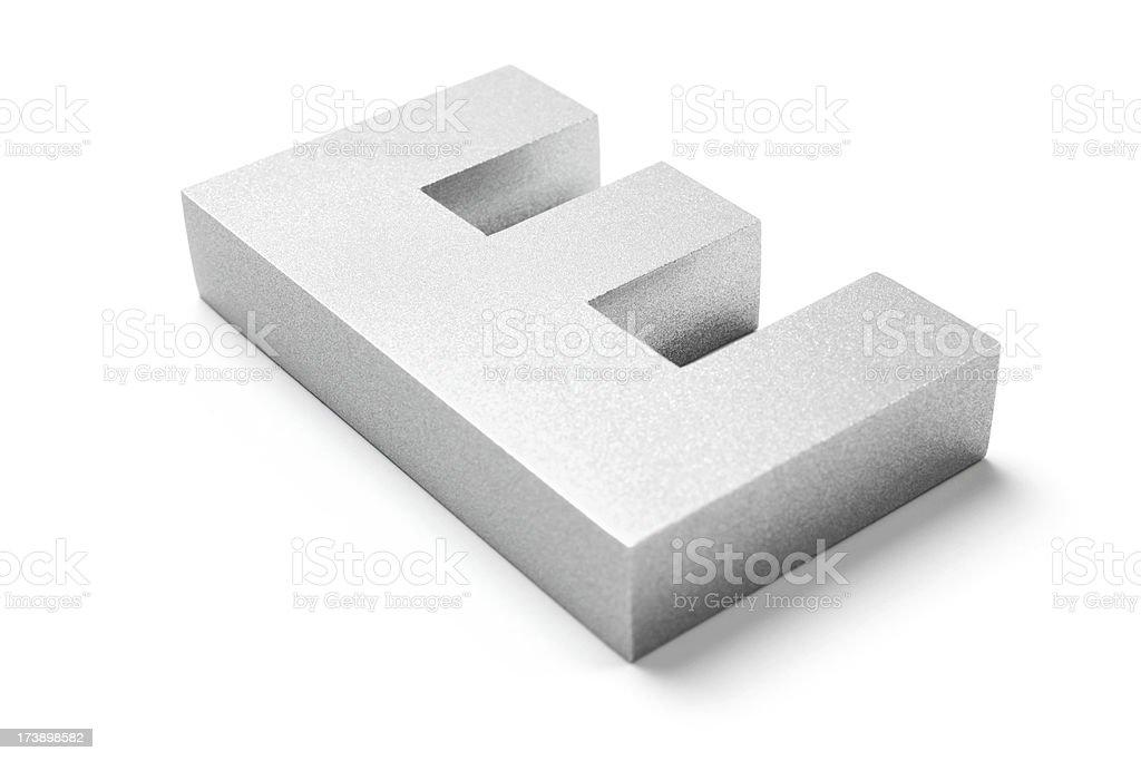 Letter E royalty-free stock photo