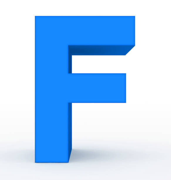 c4833f6c6f Best Blue Abstract Letter F Stock Photos, Pictures & Royalty-Free ...
