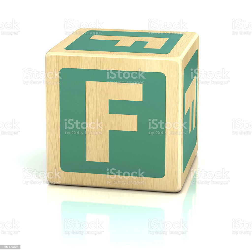 letter F alphabet cubes font stock photo