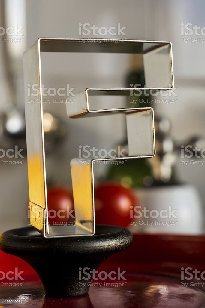 Letter F kitchen alphabet royalty-free stock photo