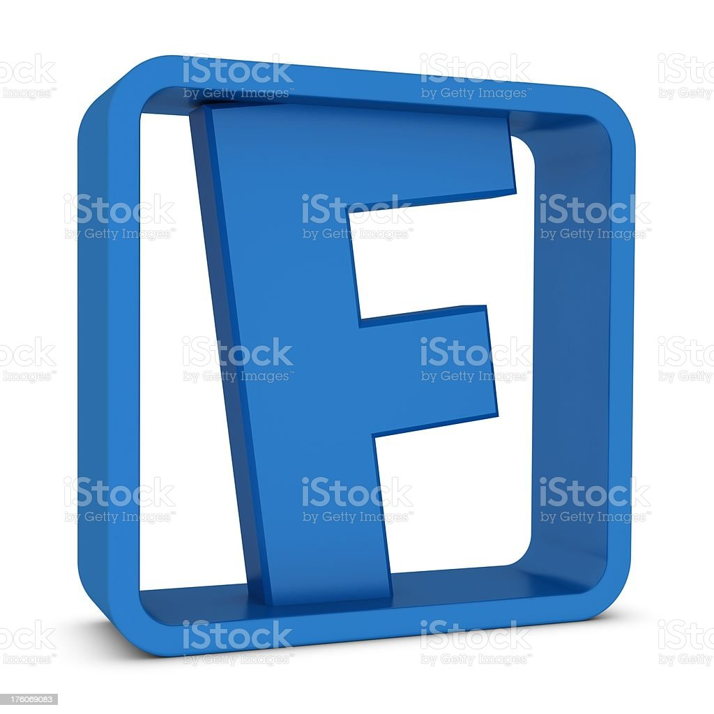 Letter F royalty-free stock photo