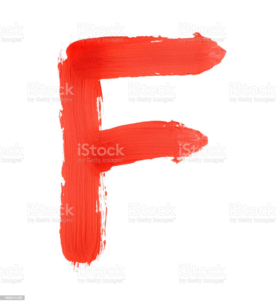 Letter F stock photo