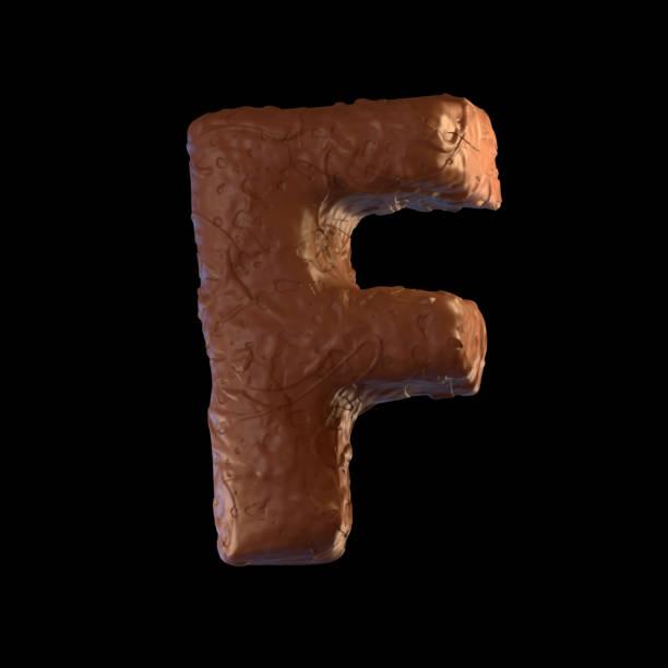 buchstabe f - schokolade typografie stock-fotos und bilder