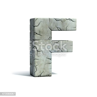istock letter F stone 3d font 472093057