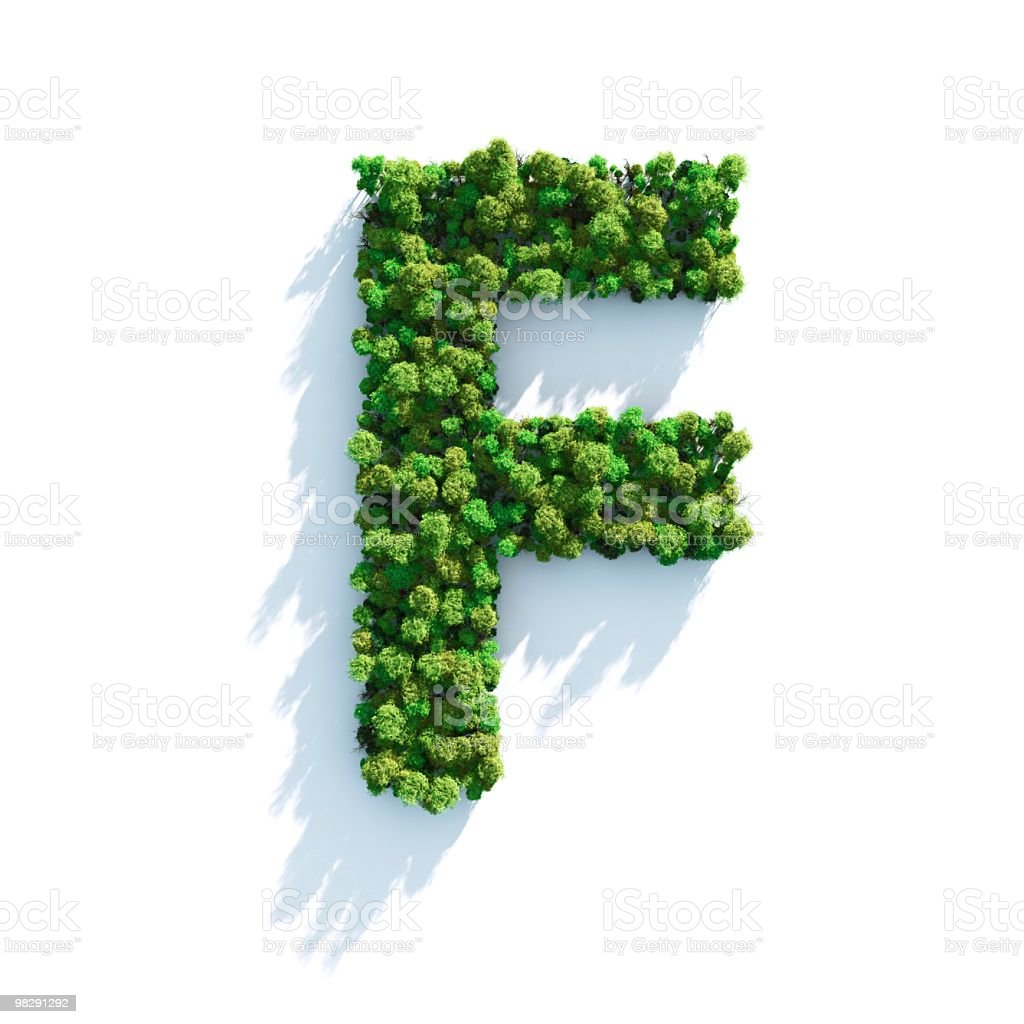 Letter F: Top View royalty-free stock photo