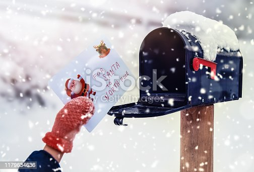 Envelope with wishes list for Santa Claus