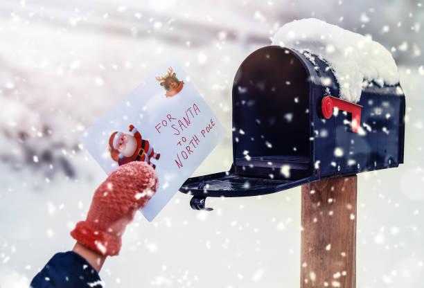 Letter For Santa stock photo