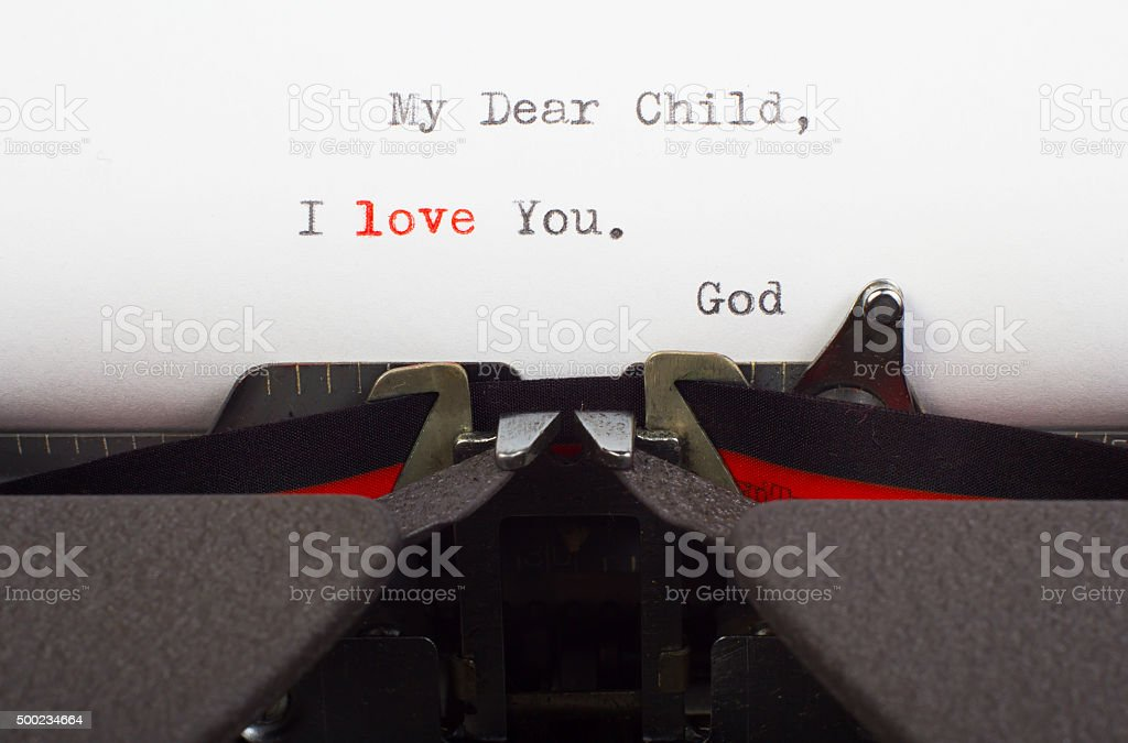 Letter from God stock photo